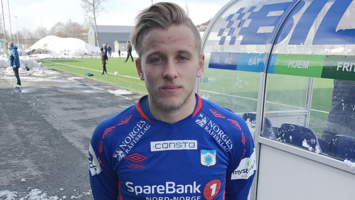 Mathias Dahl Abelsen og Mjølner sliter i 2. divisjon og ligger an til nedrykk. (Arkivfoto)