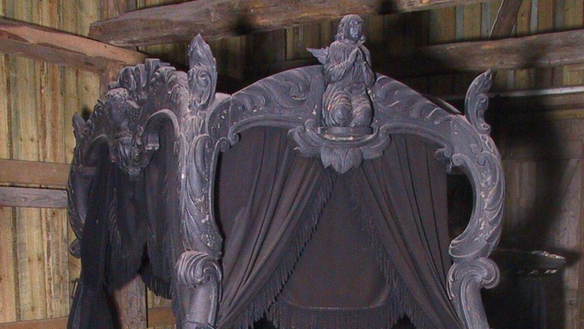 Nå er begravelses-vogna på Aust-Agder kulturhistoriske senter.