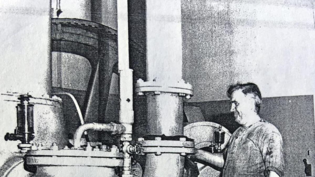Fra Dampsentralen i Litlabø Kisgruber der Andreas jobbet så å si hele yrkeslivet.