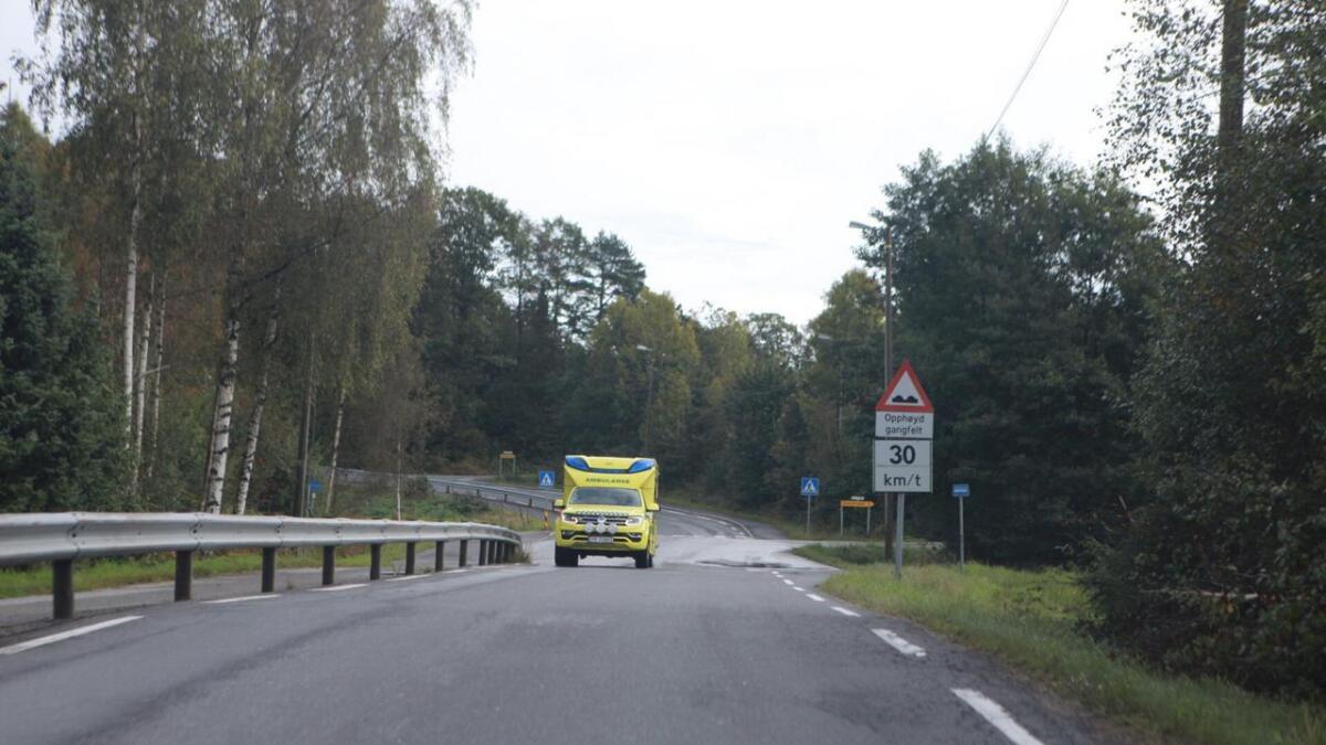 Ambulanse rykket også ut til stedet.