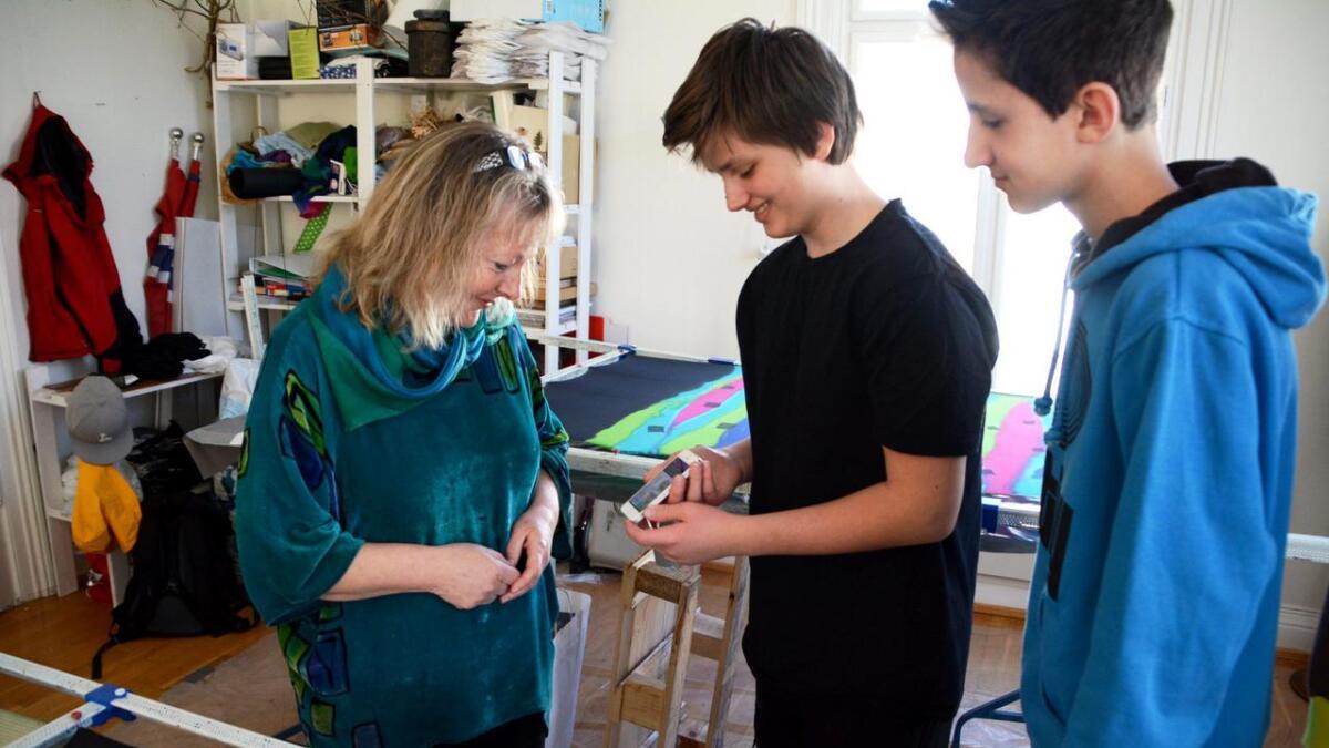 Positiv. Kate Nordstrand skryter av ideen om å lage en kunstapp. Hun tror dette er noe mange kunstnere kan ha nytte av.