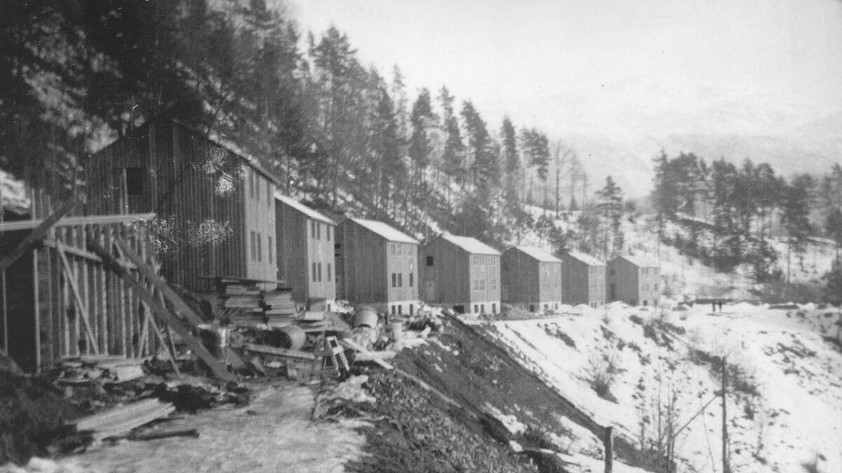 Svenskehus under bygging på «Øvre Paradis» i Ulvik.