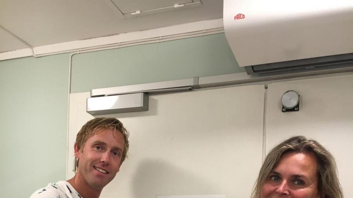 Thor Erling Engemyr og Cecilie knibe Kroglund.