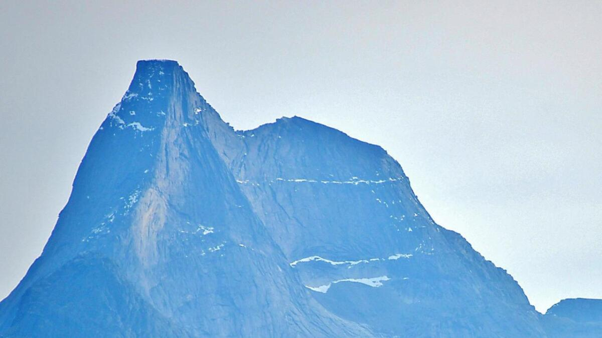 Stetind - Norges Nasjonalfjell 1.392 m.o.h. 13.oktober 2014.