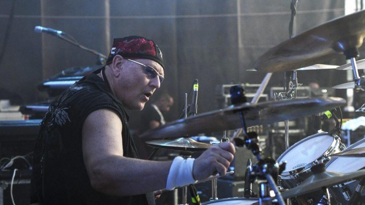 Jan Torkild Johannessen vokste opp på Årnes før han flyttet ut av bygda og ble trommeslager i progrockbandet Magic Pie. Dette er fra en festival i Italia.