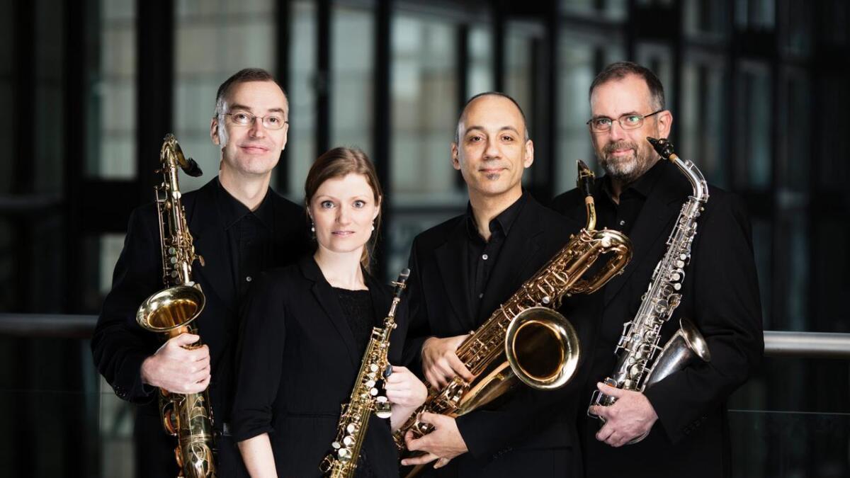 Fredag spelar den danske saksofonkvartetten Jutlandia på Fryd Scene i Ål.