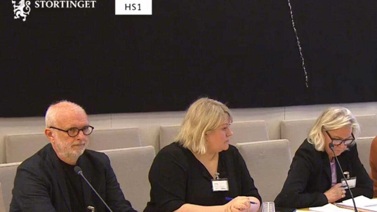 Ragnar Holvik deltok tirsdag på varslerhøringen på Stortinget. Her sammen med rådgiver Natalia Olsen (midten) leder av rettsgruppen for varsling og etikk, Kari Breirem.