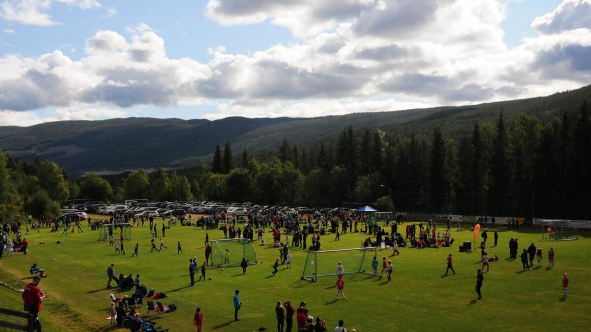 Slik såg det ut på Torpo under fjorårets store fotballfest på Bakketun.