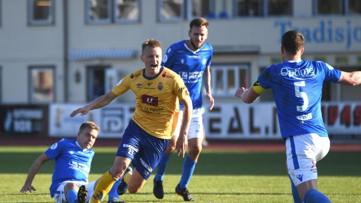 Ole Marius Håbestad sørget for Jerv-seier borte mot Sandnes Ulf. Bildet er fra en tidligere kamp.