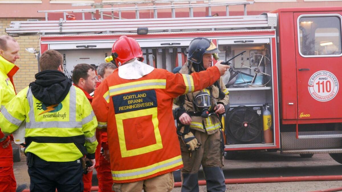 Illustrasjonfoto - Sortland brann- og redning.