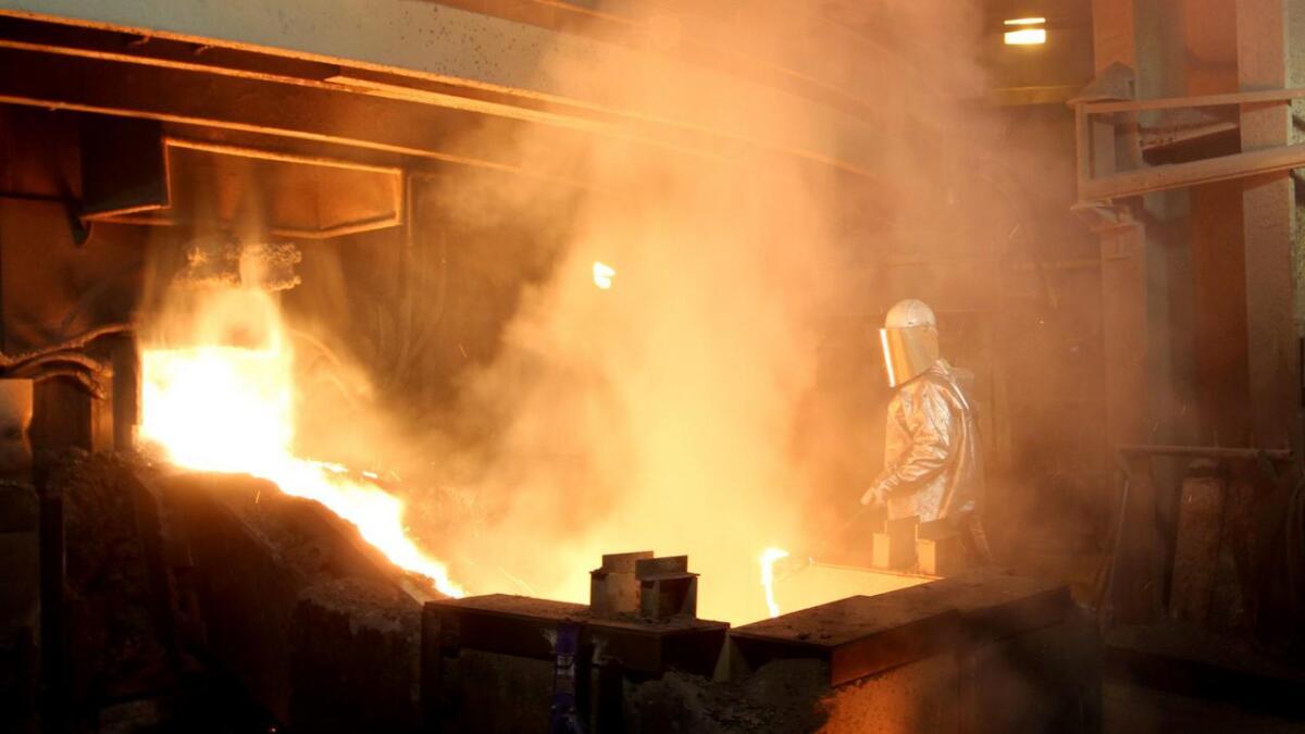 Produksjonsbilder kan bli spektakulære som her fra Eramets smelteverk. Arkiv