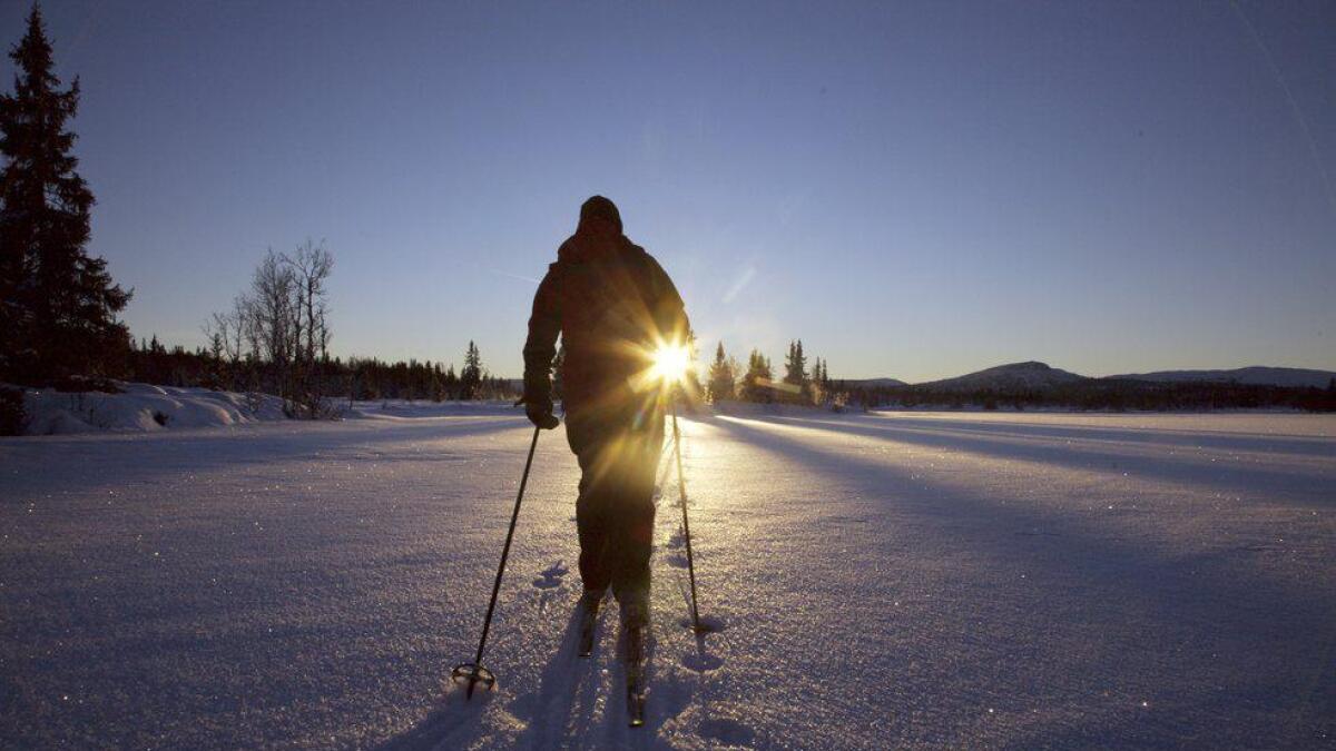 Vinterlys på Veståsen i Ål.