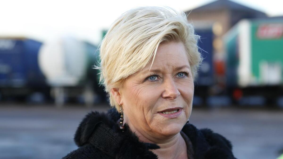 Finansminister Siv Jensen (Frp)
