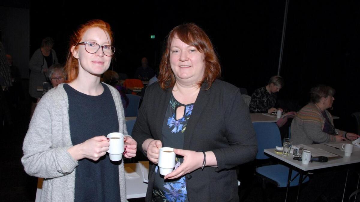 Kulturkonsulent Hanne Fredheim og kultur- og oppvekstsjef Kine Johnsen var med på seminaret.
