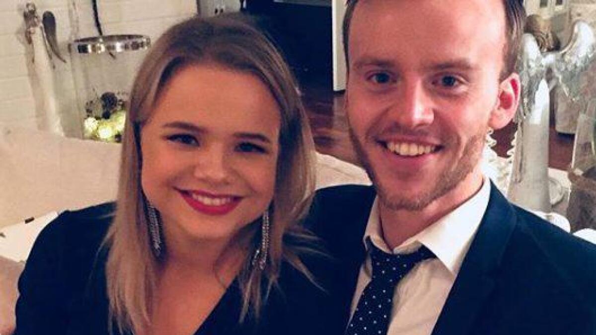 Lisa Børud feiret nyttårsaften sammen med kjæresten Chris-Michael Gustavsen.