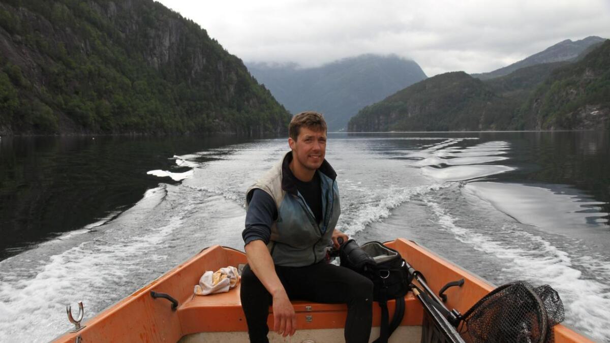Eirik Straume Normann er svært oppteken av laksefiske.