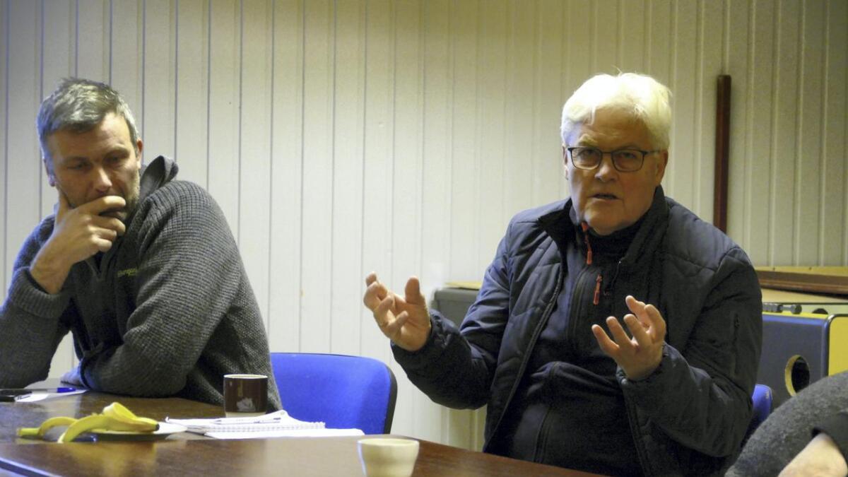 Geir Magne Gammersvik (til venstre) og Erling Kleiveland, er to av styret på fem.