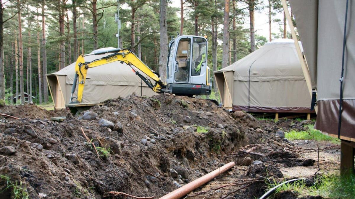 Disse gravearbeidene som ble utført på Hove tidlgere denne måneden, har vakt reaksjoner.