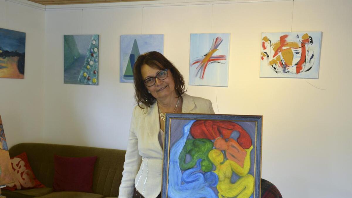Mange av maleriene til Cristina Vendelsen gir uttrykk for menneskets sjel.