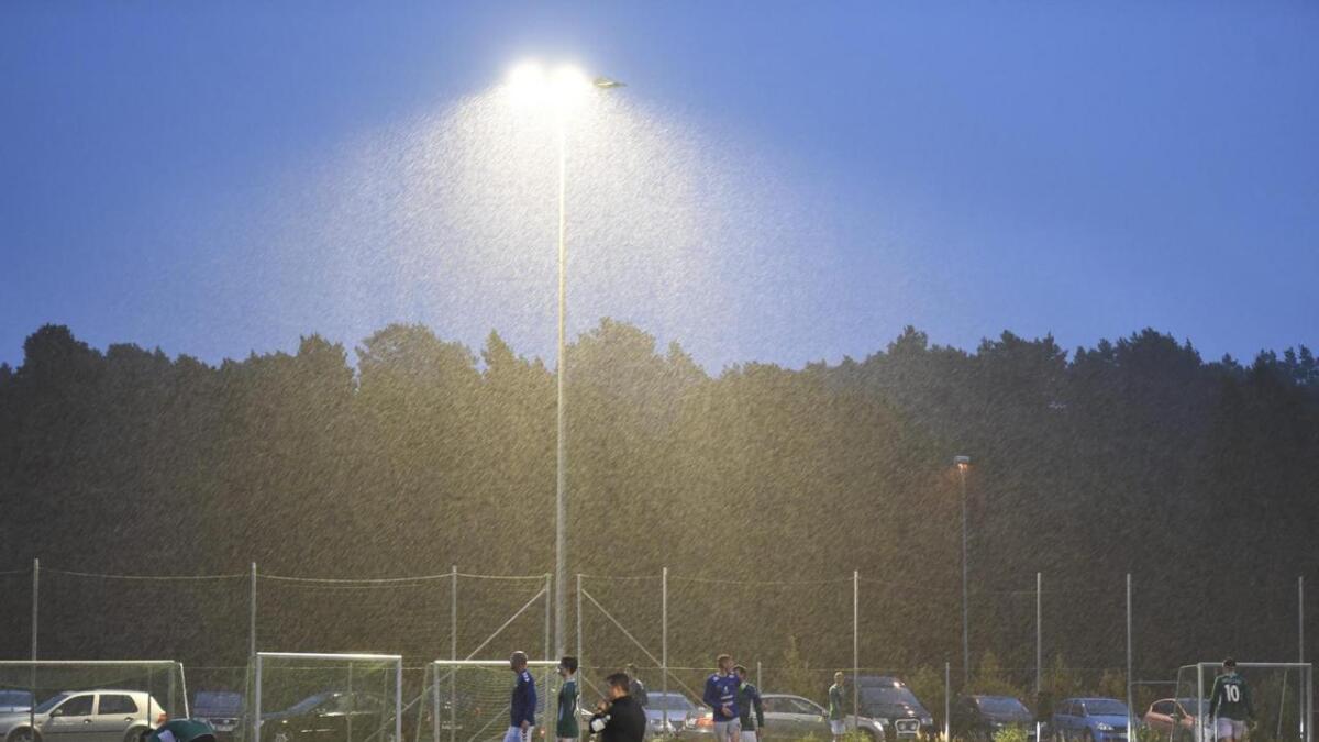 Det var mykje nedbør og vind over Sunnhordland tysdag kveld