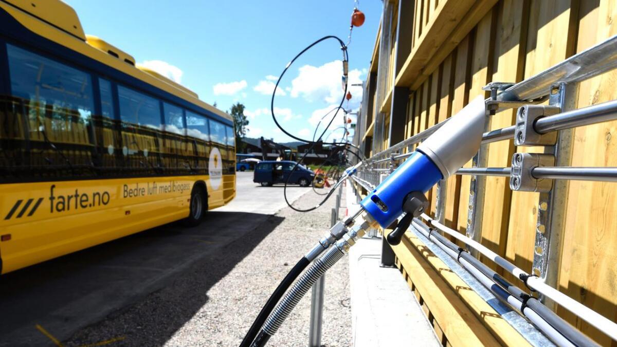 Fylkeskommunens busser er blant de som bruker biogass, i stedet for petroleum.