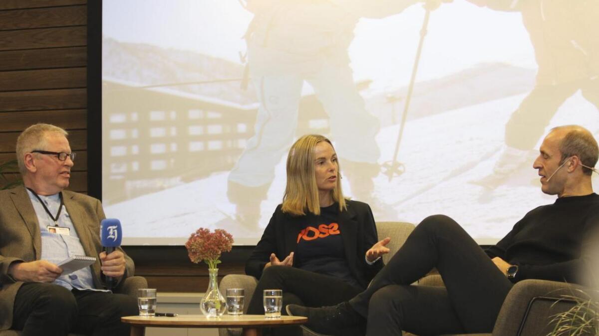 Ståle Brandshaug (til høgre) frå Visit Sognefjord kom med ein av dei mest utfordrande uttalane. Her frå reiselivskonferansen frå tidlegare i veka på Myrkdalen Hotel.