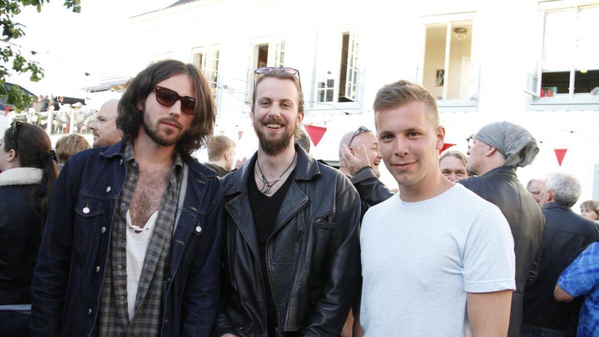 Ole Henrik Dyrseth, Richard Strømme og Jonathan Andrè Tarè klare for konsert.