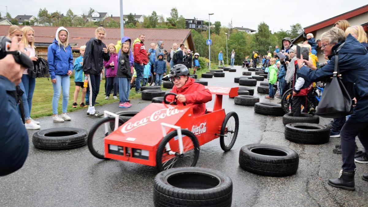 Olabilløpet er et populært innslag lørdag.