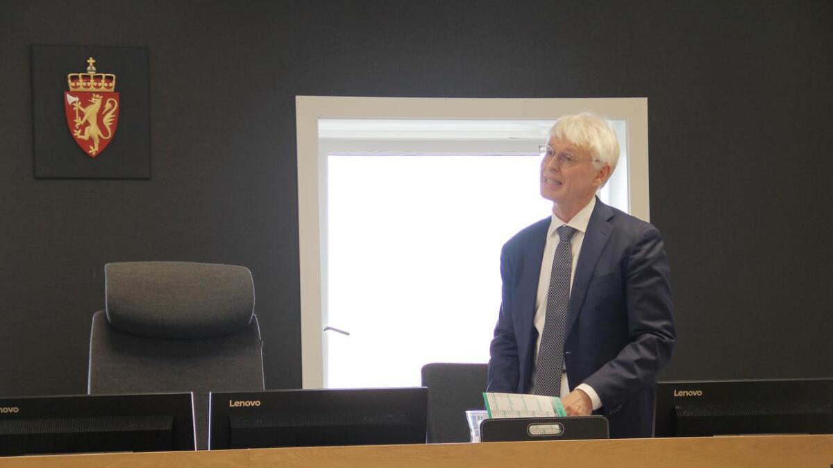 Advokat Johan Henrik Frøstrup i retten.