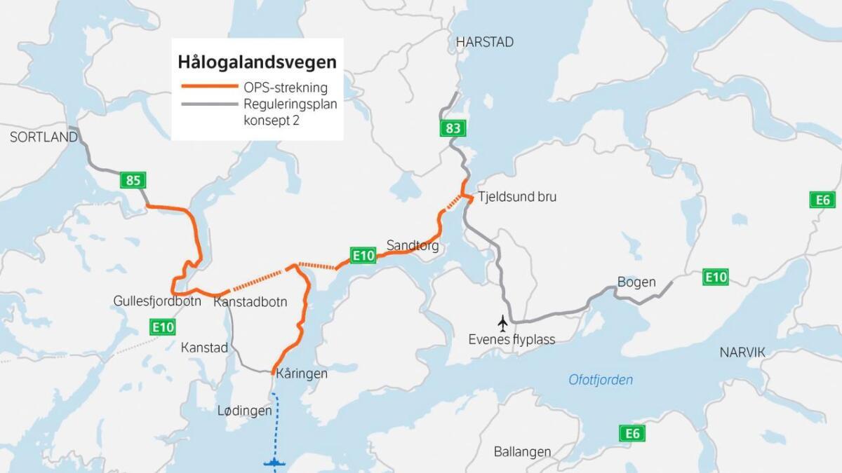 Over Hålogalandsveien.