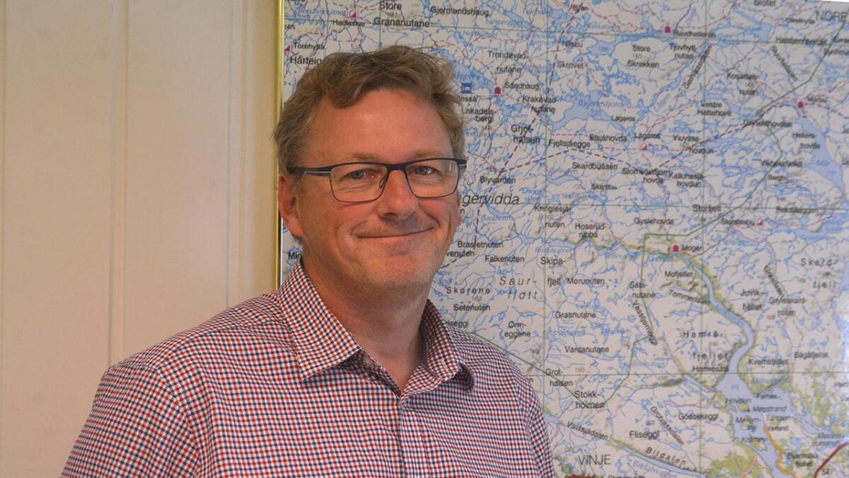 Vinjeordførar Jon Rikard Kleven håper det kjem eit datalagringssenter, og det vil gje meir pengar i kommunekassa.