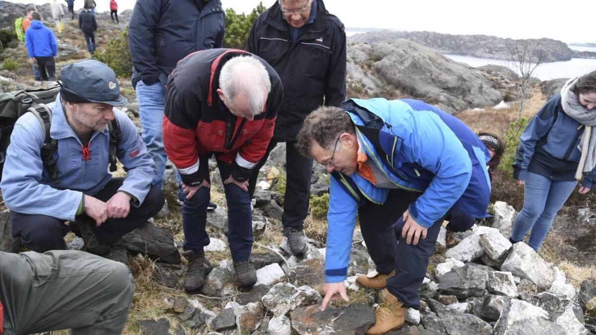 Jansen fann ein stein som han meinte var særs interessant