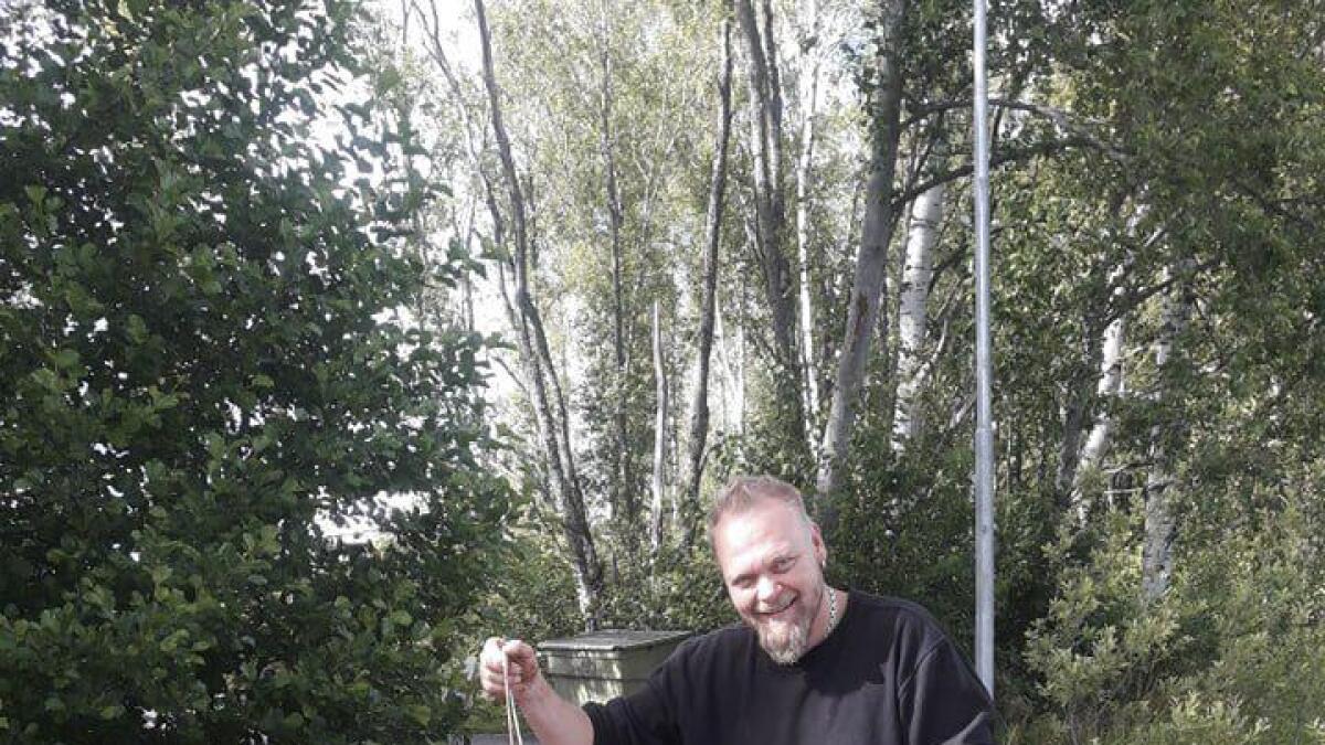 Denne handlevognen har Tom Steinar Henriksen tatt opp med magneten sin.