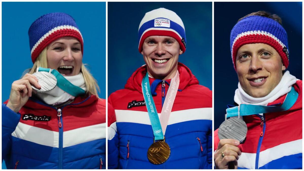 Marte Olsbu Røiseland (sølv i både sprint og mix-stafett, skiskyting), Simen Spieler Nilsen (gull, lagtempo skøyter) og Lars Helge Birkeland (sølv i herrestafett, skiskyting) fra Aust-Agder kom hjem med fire medaljer fra vinter-OL i Pyeongchang sist vinter.
