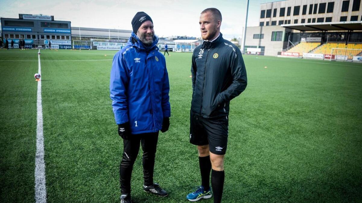 Trenar Trond Fredriksen har tru på at Espen Garnås kan nå langt innan fotballen.