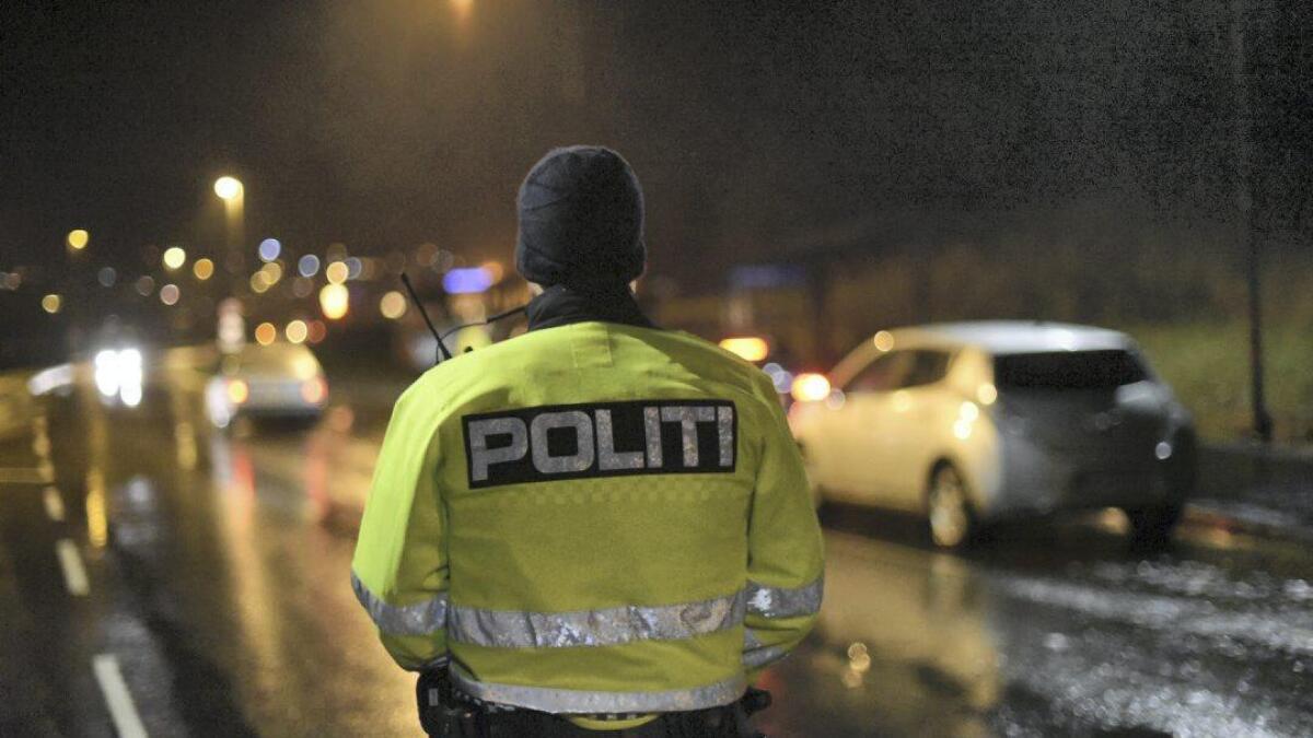 Politiet var på Rubbestadneset i natt.