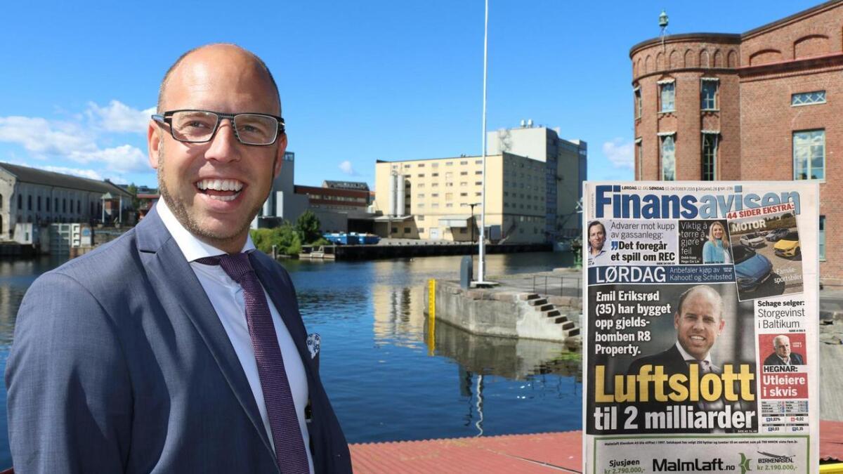Emil Eriksrød mener at verdiene i R8 ikke er blåst opp, slik som Finansavisen melder over ni sider i sin lørdagsavis.