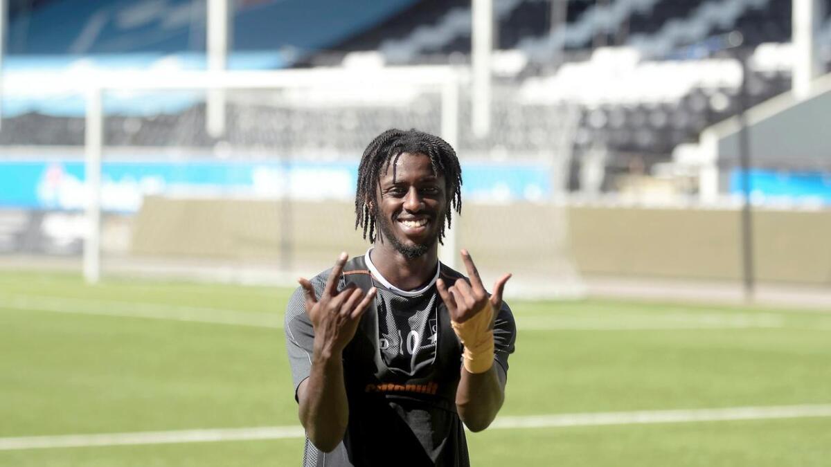 Moussa Njie har funnet seg godt til rette i Odd.