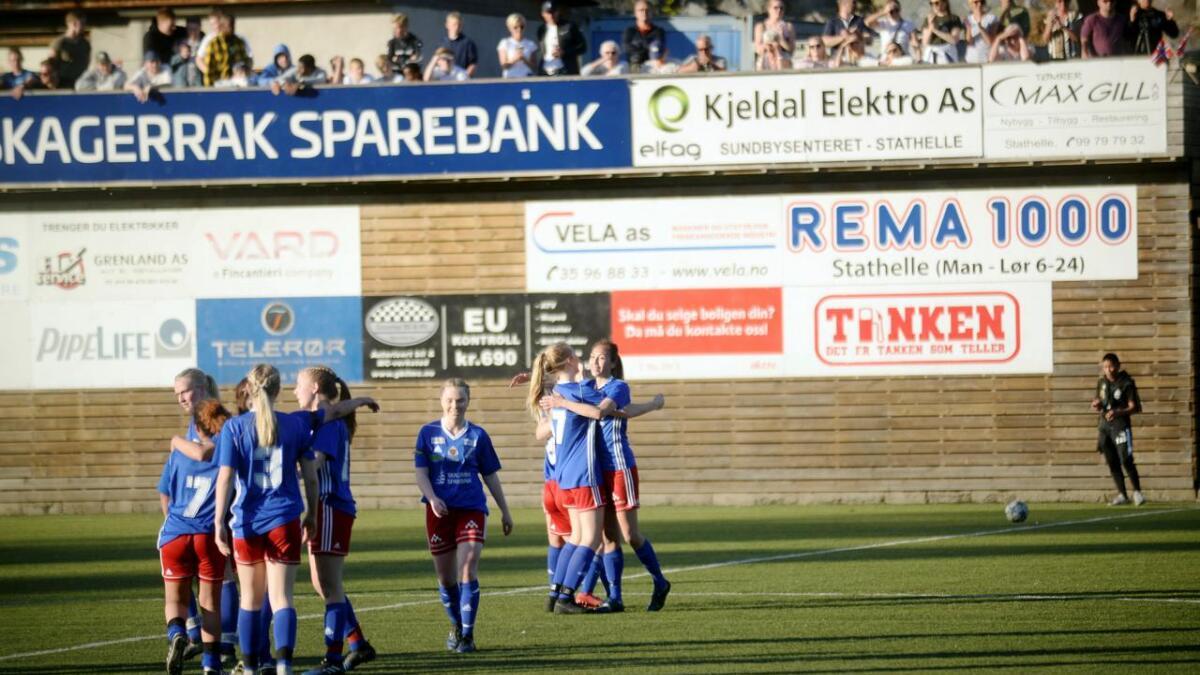 Lina Lanner og Stathelle kunne juble etter 2-0 mot Urædd.