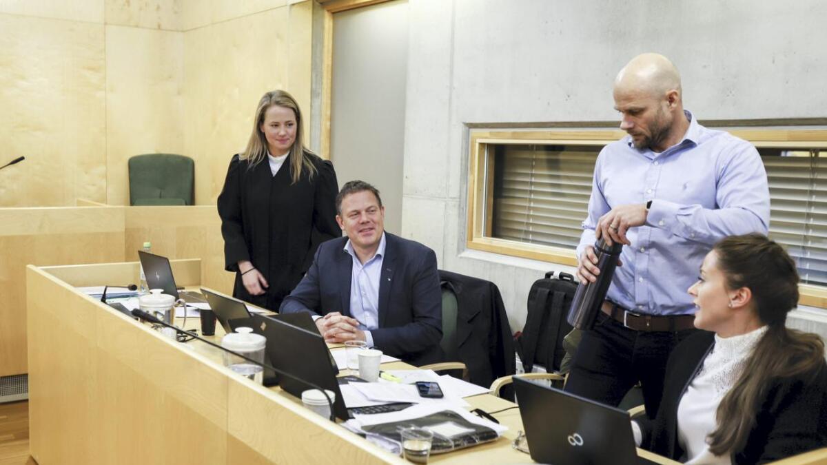 Mathilde Strand Wilhelmsen, Fred C. Gjestad, Thomas Frigård og trainee Lise Marit Nyerrød.