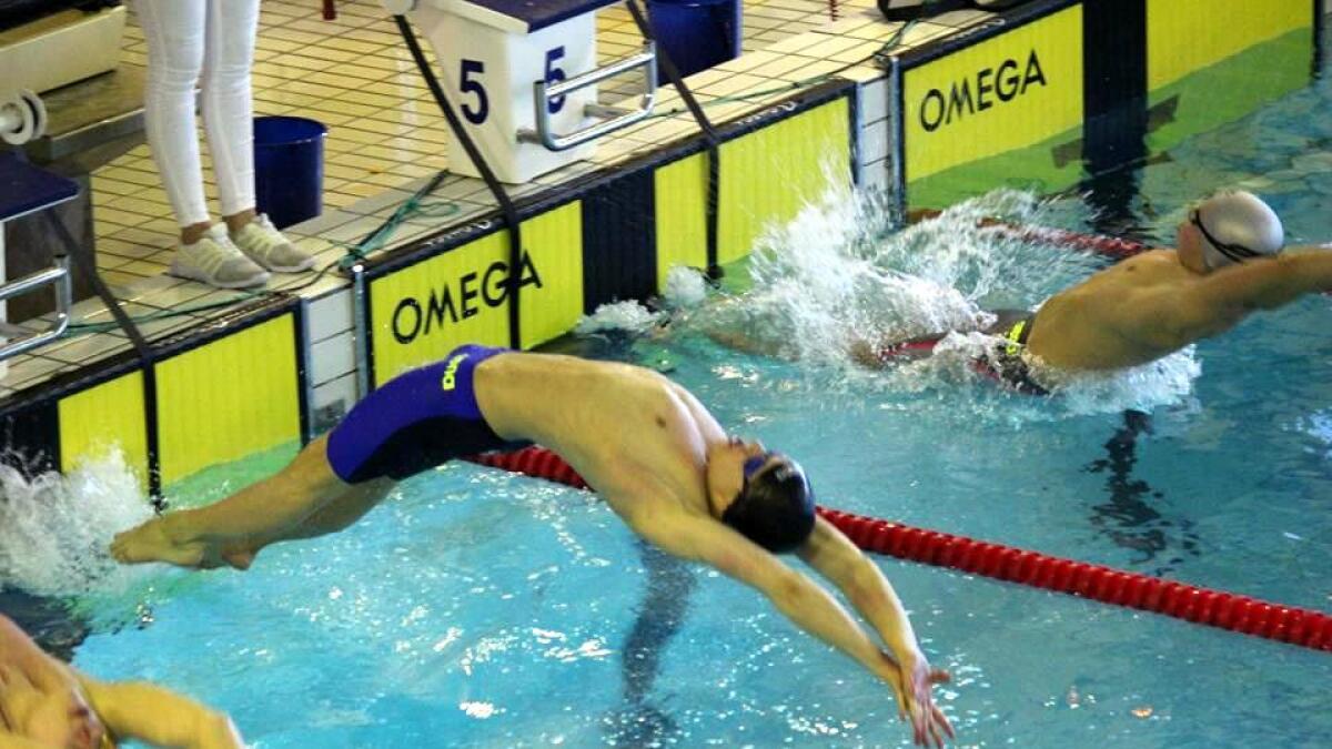 Harald-Georg Dahlslett Hansen leverte fin ryggsvømming i helga, og endte på tredjeplass sammenlagt i sin årsklasse.
