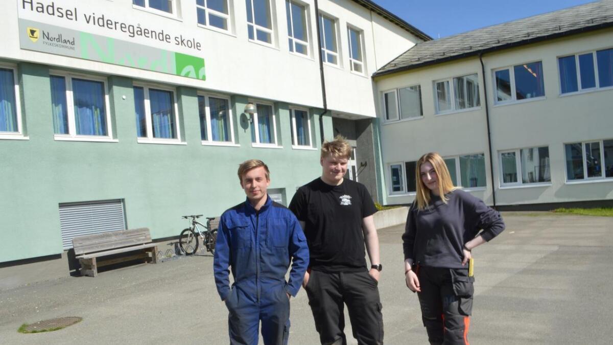 Henning Alsos, Sebastian Olsen Knutsen og Eline Fossem fra Hadsel videregående skole ble plukket ut til skolebesøk i Italia.
