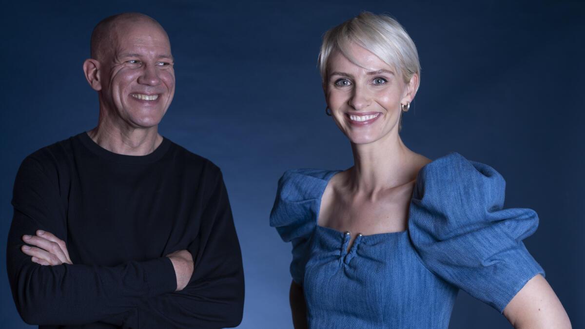 Henrik Elvestad (t.v.) og Anne Rimmen vil figurere på skjermen under Discoverys OL-sendinger. Foto: Erik Johansen / NTB