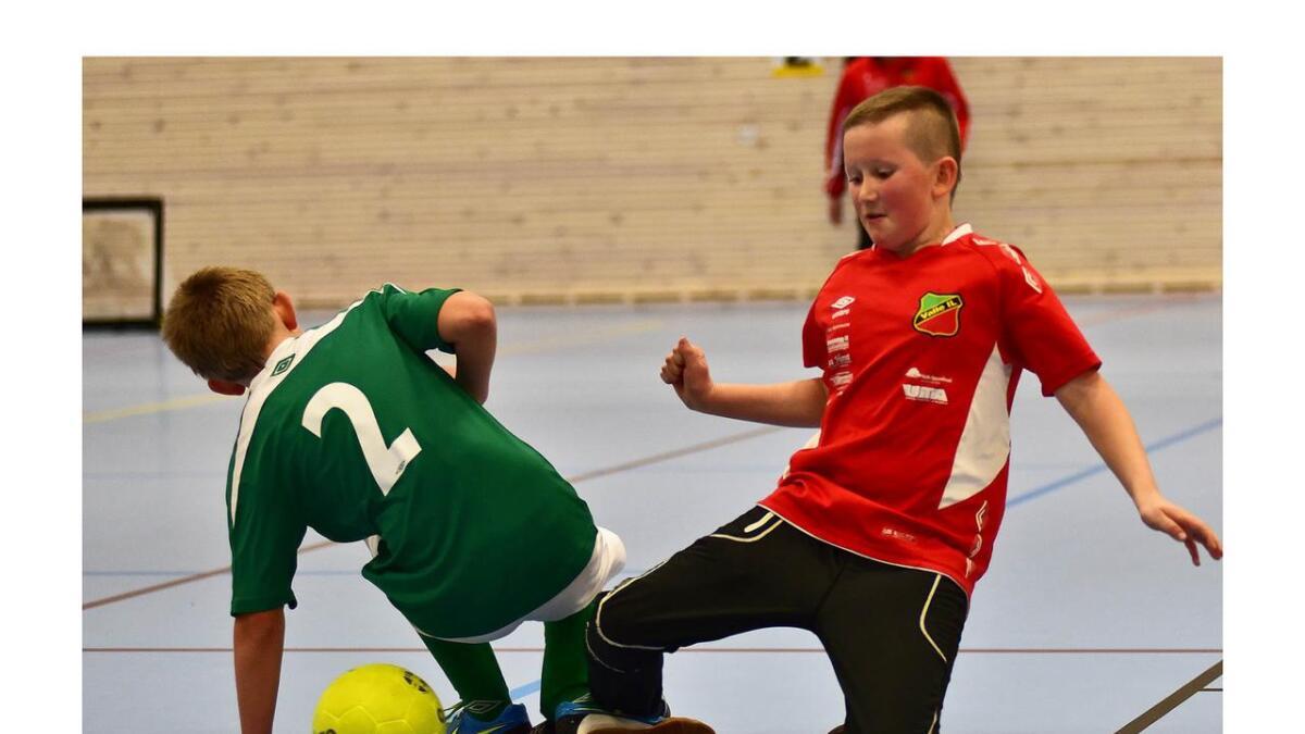 Det ligg an til nytt lokaloppgjer mellom Bygland IL (t.v) og Valle IL når Setesdalsmeisterskapet i barnefotball blir arrangert 23. november i Byglandshallen.