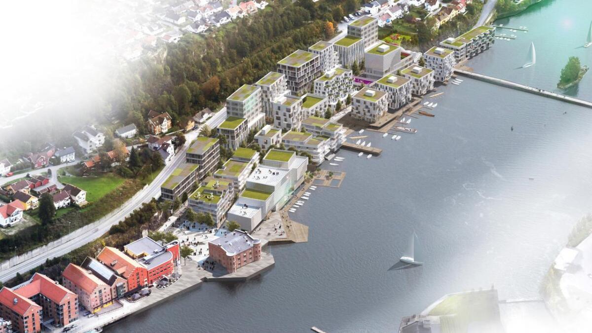 Det planlegges boliger for inntil tusen personer på Skien Brygge