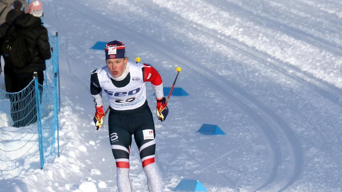 Aron Åkre Rysstad fikk ønsket om å bli tatt ut på laget til Team Veidekke oppfylt etter en supersesong. Bildet er fra junior-VM i januar.