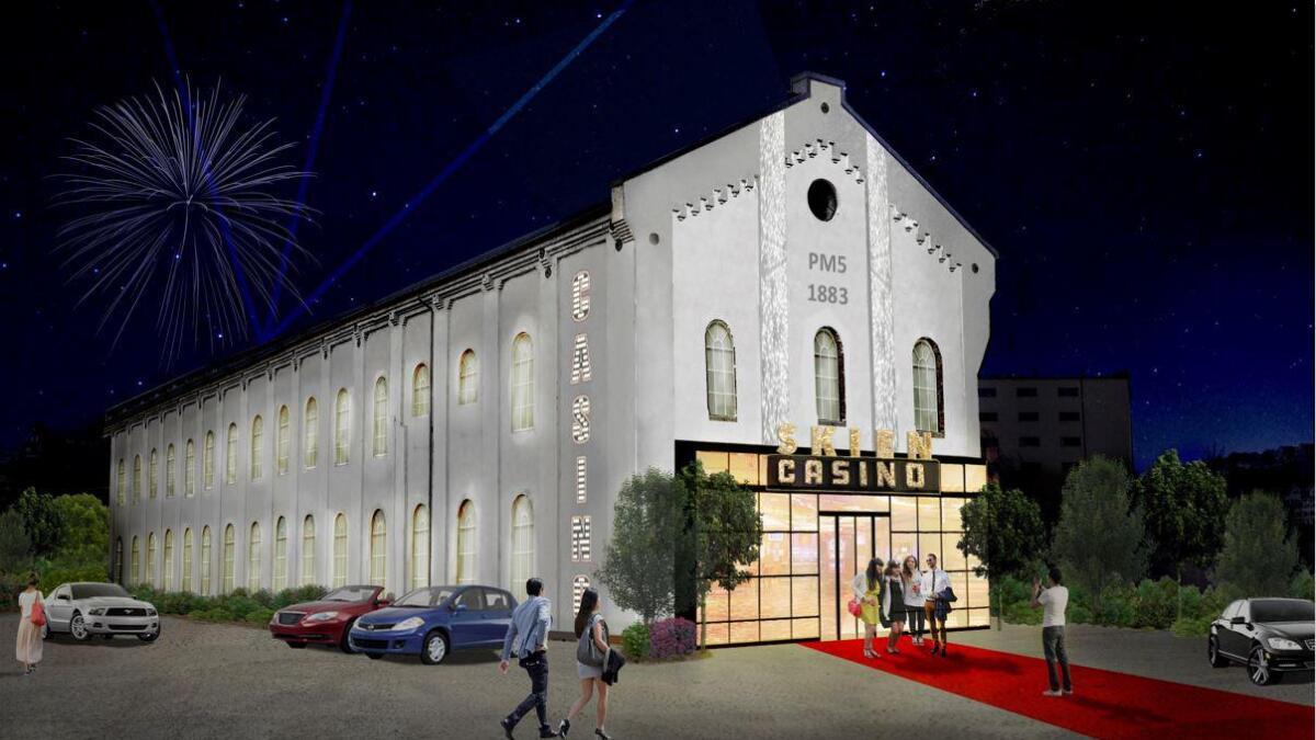 Bypartiet ønsker casino i Skien og ser for seg at det kan bli slik hvis lokalene var PM5 på Smieøya.