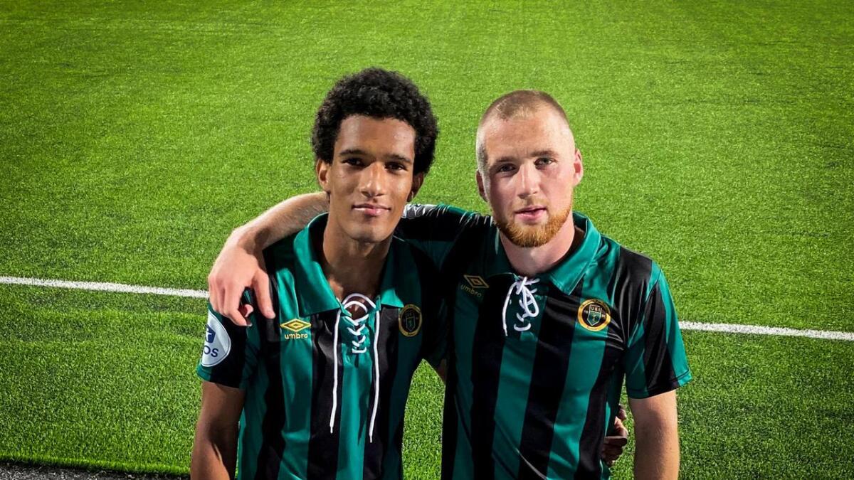Alfred Scriven og Espen Bjørnsen Garnås scora kvart sitt mål i jubileumskampen mot Aalesund.