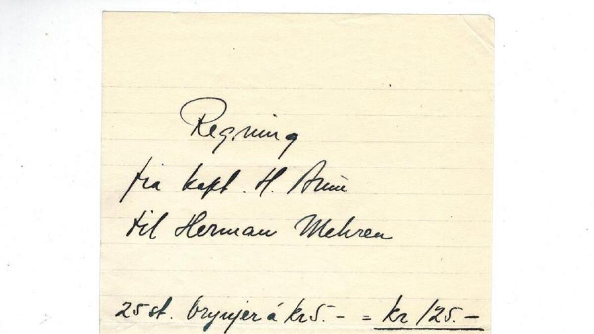 Herman Mehren kunne tilby brynjer til kundane i butikken i Rosenkratzgate i Oslo.