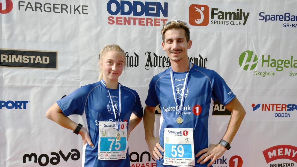Melina Skeimo og Tommy Ulsted løp fem kilometer og var fornøyde med egne tider.